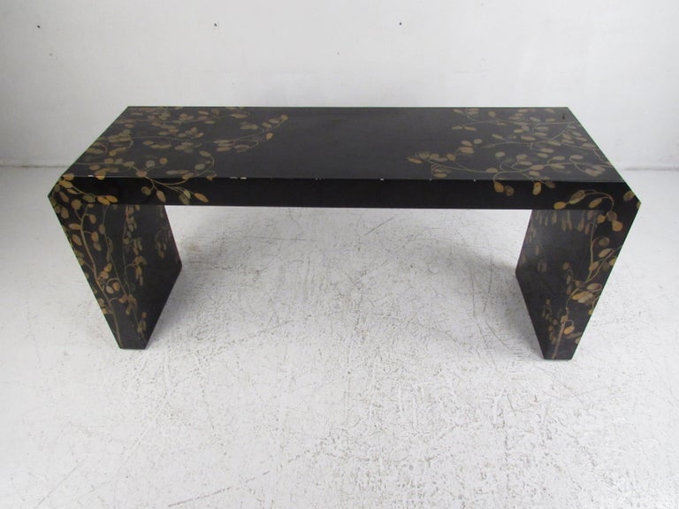 Prime Contemporary Modern Asian Style Waterfall Console Table Onthecornerstone Fun Painted Chair Ideas Images Onthecornerstoneorg
