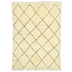 Contemporary Modern Beni Ourain Moroccan Rug with Minimalist Style