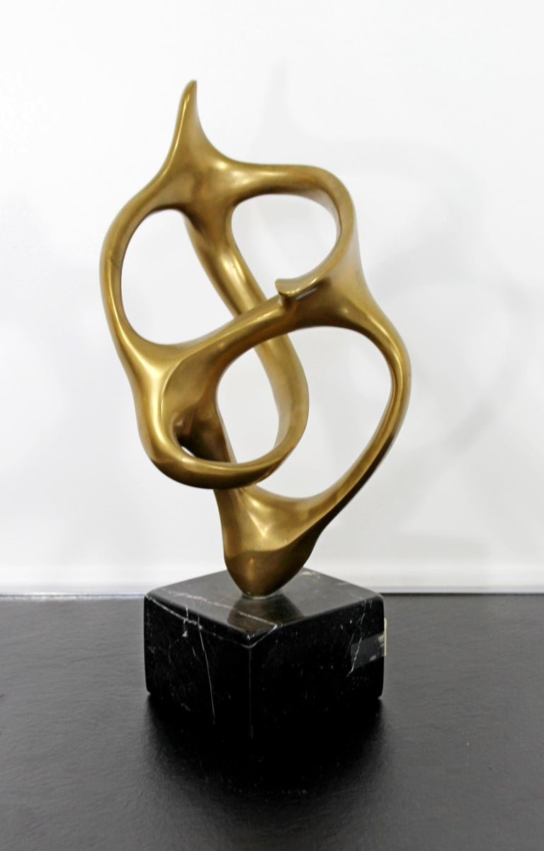 Spanish Contemporary Modern Bronze Marble Table Sculpture Signed by Kieff Grediaga AP