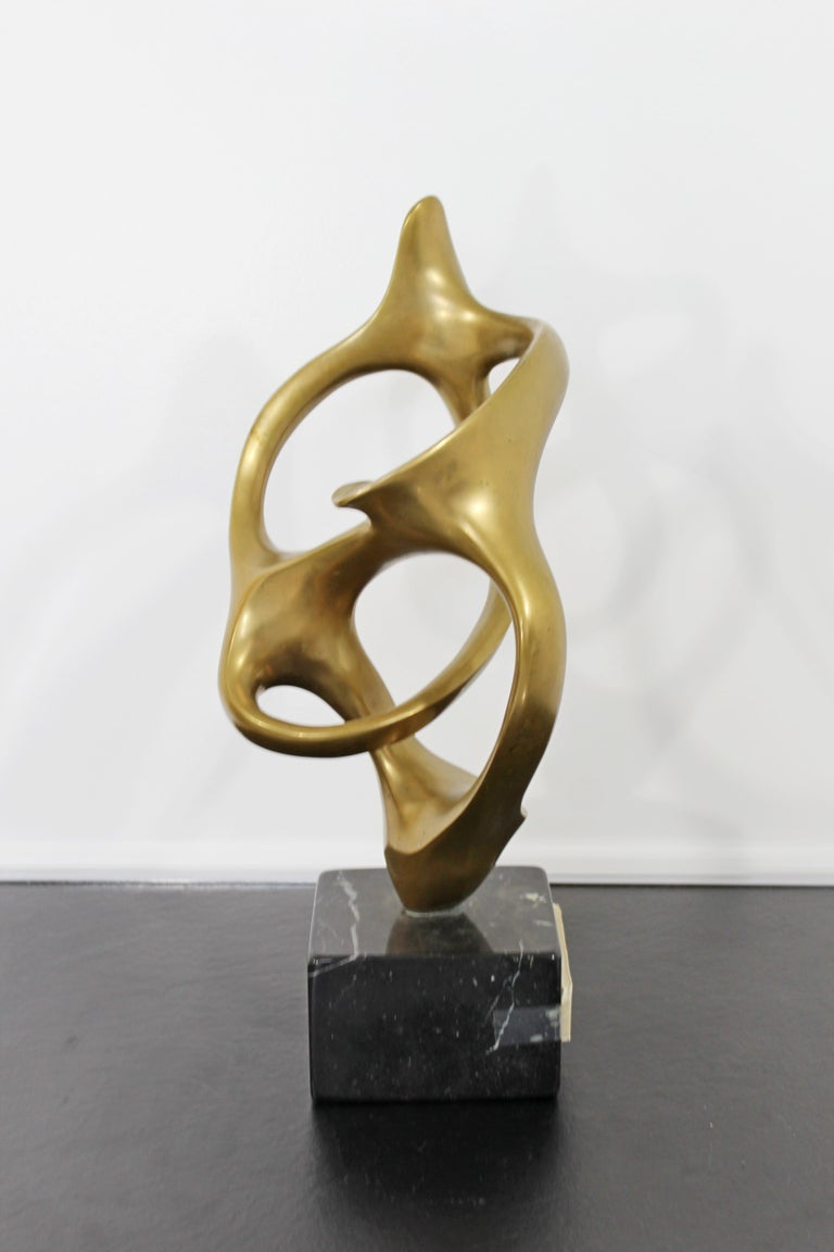 Contemporary Modern Bronze Marble Table Sculpture Signed by Kieff Grediaga AP In Good Condition In Keego Harbor, MI