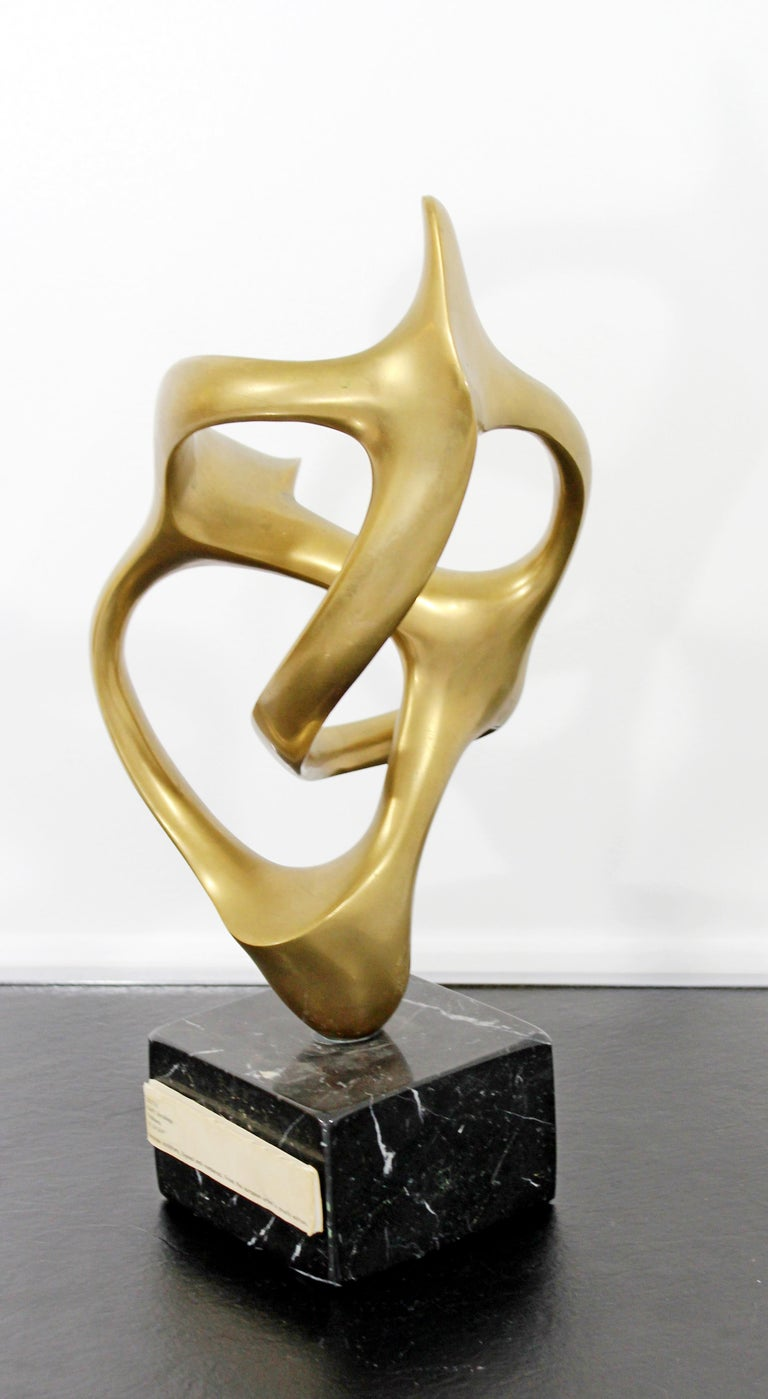 Contemporary Modern Bronze Marble Table Sculpture Signed by Kieff Grediaga AP 2