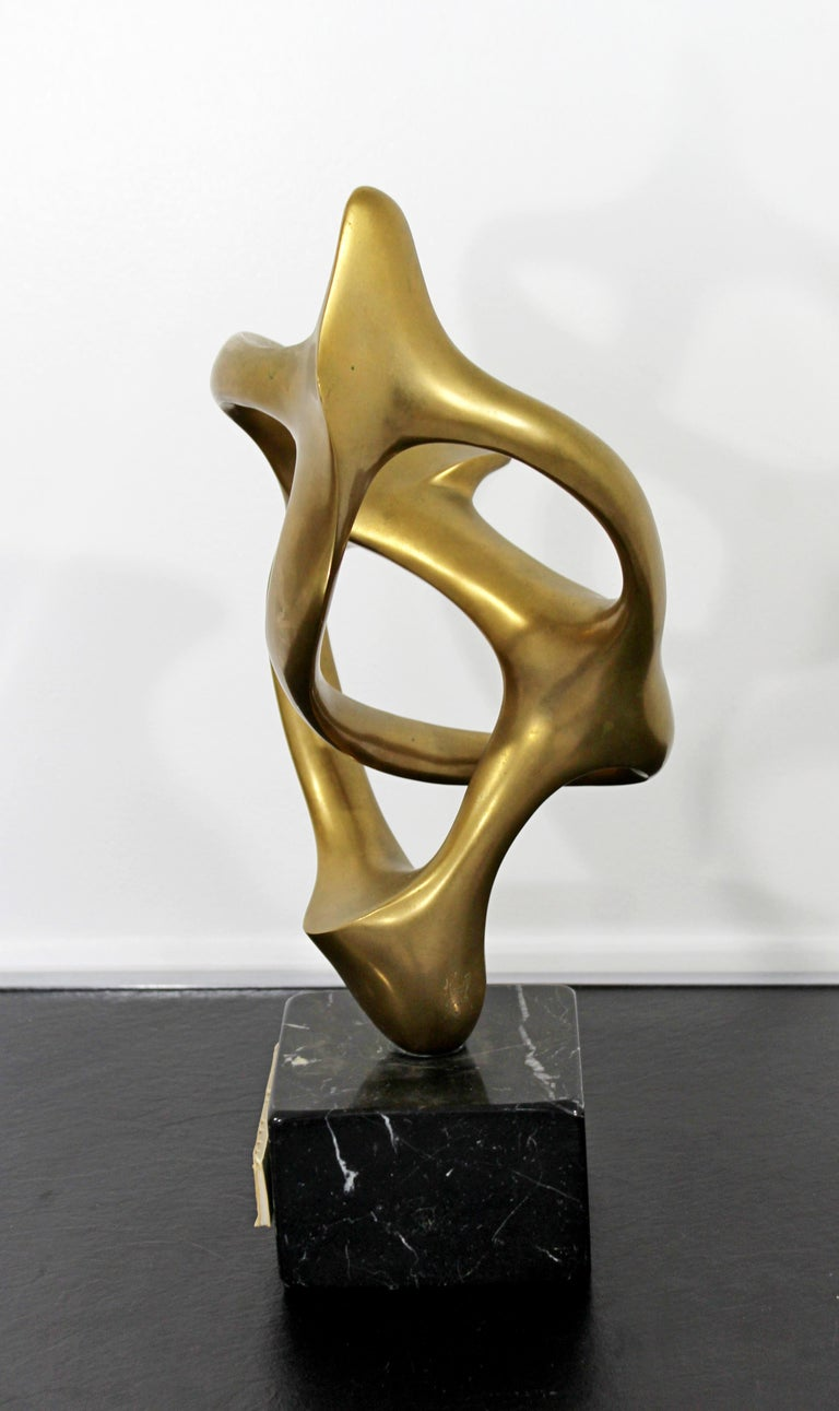 Contemporary Modern Bronze Marble Table Sculpture Signed by Kieff Grediaga AP 3