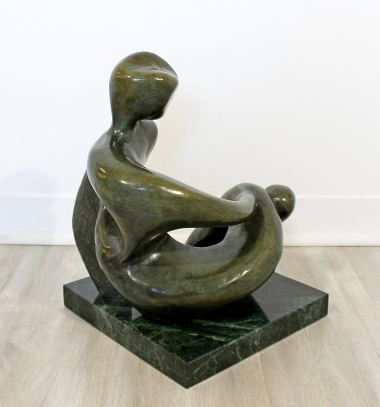For your consideration is a stunning, bronze table sculpture,