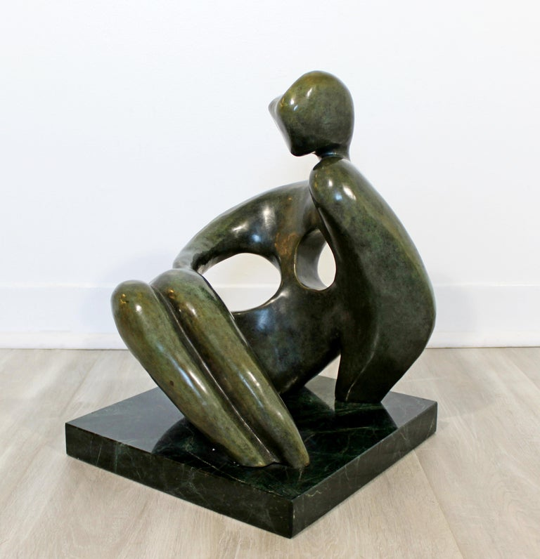 Contemporary Modern Bronze Marble Table Sculpture Signed Porret Manifesto, 1987 2