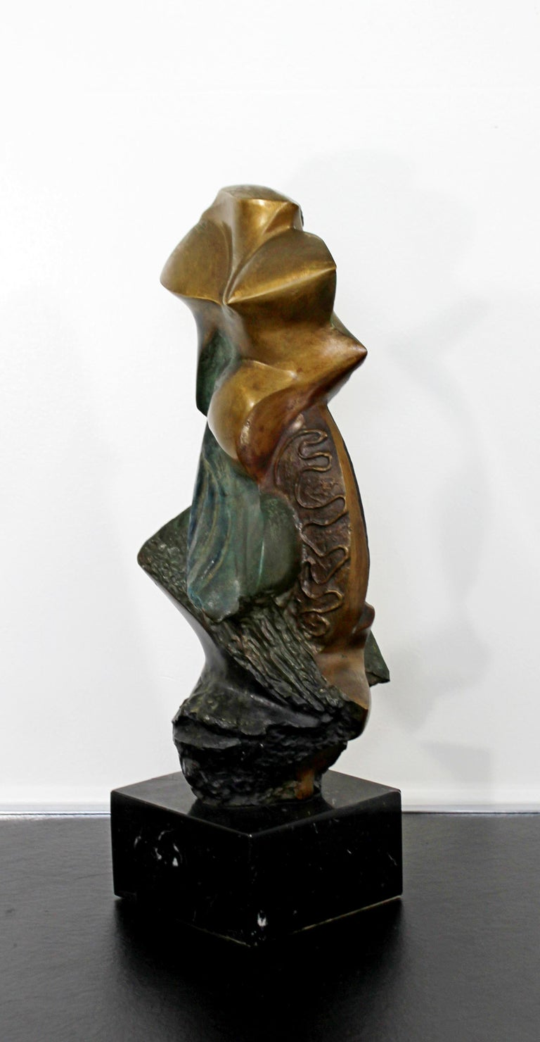 Contemporary Modern Bronze on Marble Table Sculpture Signed by Kieff Grediaga For Sale 1