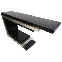 Contemporary Modern Cantilever Hall Table