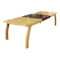 Contemporary Modern Custom Made Maple Dining Conference Table Memphis, 1980s