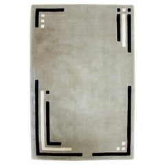 Contemporary Modern Edward Fields Abstract Rectangular Area Rug Carpest Gray