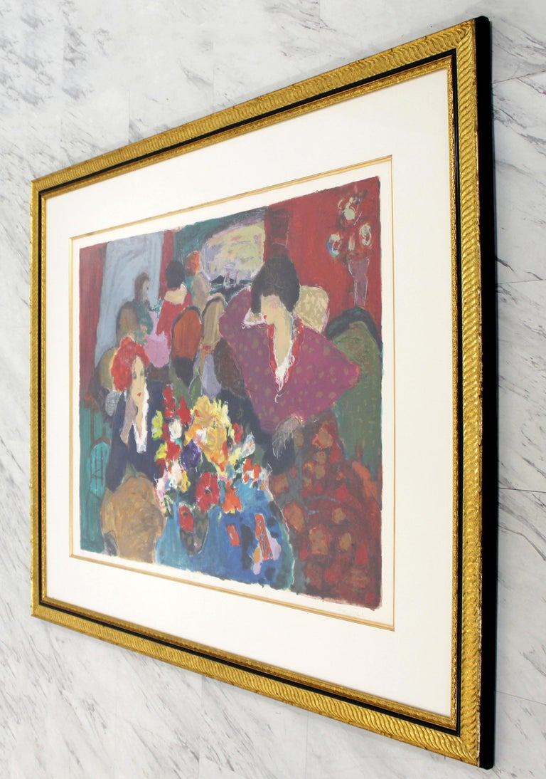 For your consideration is a gorgeous, framed litho signed and numbered 87/350 by Roy Woodard Fairchild. The title is Cafe Cresp. In excellent condition. The dimensions of the frame are 53.5
