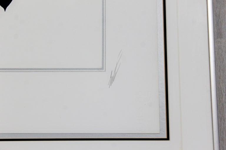 Paper Contemporary Modern Framed Erte 7 Deadly Sins Lust Signed Serigraph Nude, 1980s For Sale