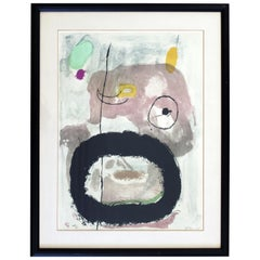 Contemporary Modern Framed Joan Miro Abstract Lithograph Signed in Plate