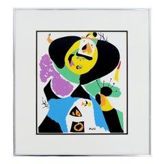Contemporary Modern Framed Poster Print Joan Miro