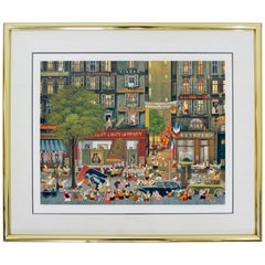 Contemporary Modern Framed Signed Hiro Yamagata Lithograph 27/100