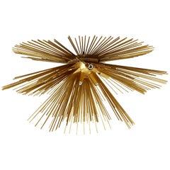 Contemporary Modern Gold Painted Sputnik Pendant Light Fixture