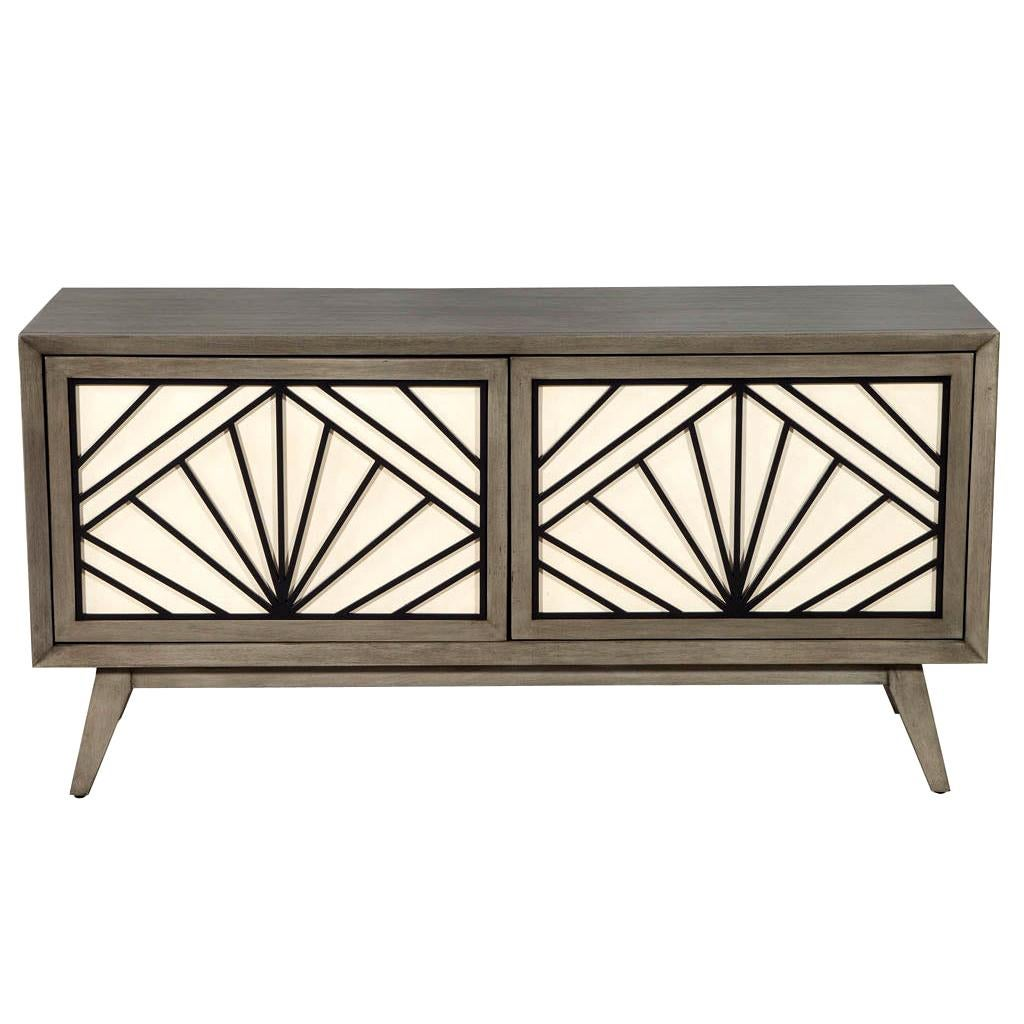 Contemporary Modern Grey Sideboard Cabinet