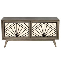 Contemporary Modern Grey Sideboard Cabinet