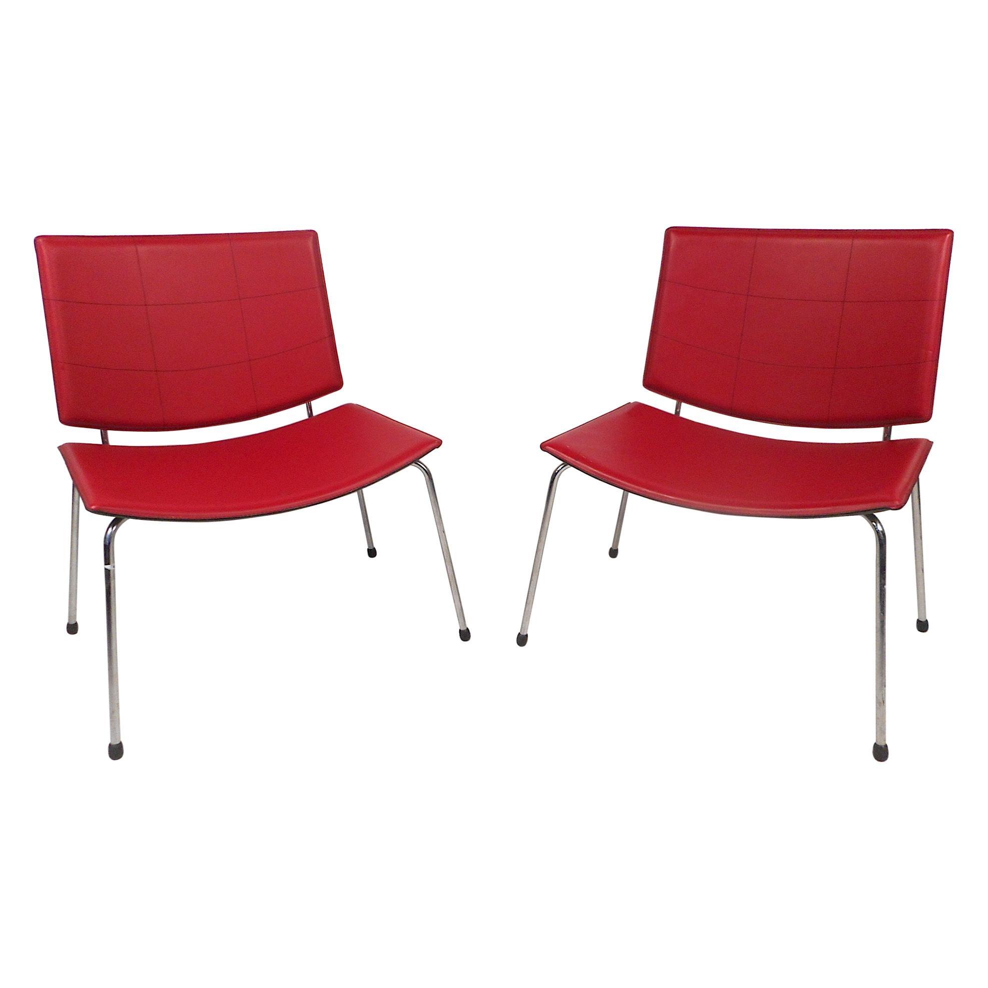 Contemporary Modern Italian Chairs, a Pair