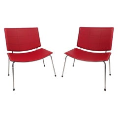Contemporary Modern Italian Chairs, a Pair
