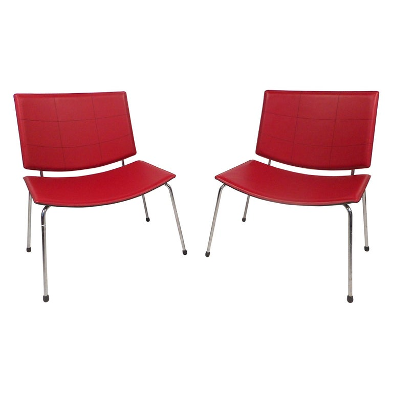 Contemporary Modern Italian Chairs, a Pair For Sale