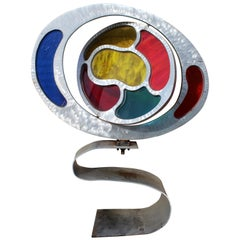 Contemporary Modern Jerry Soble Multi-Color Kinetic Indoor Outdoor Sculpture