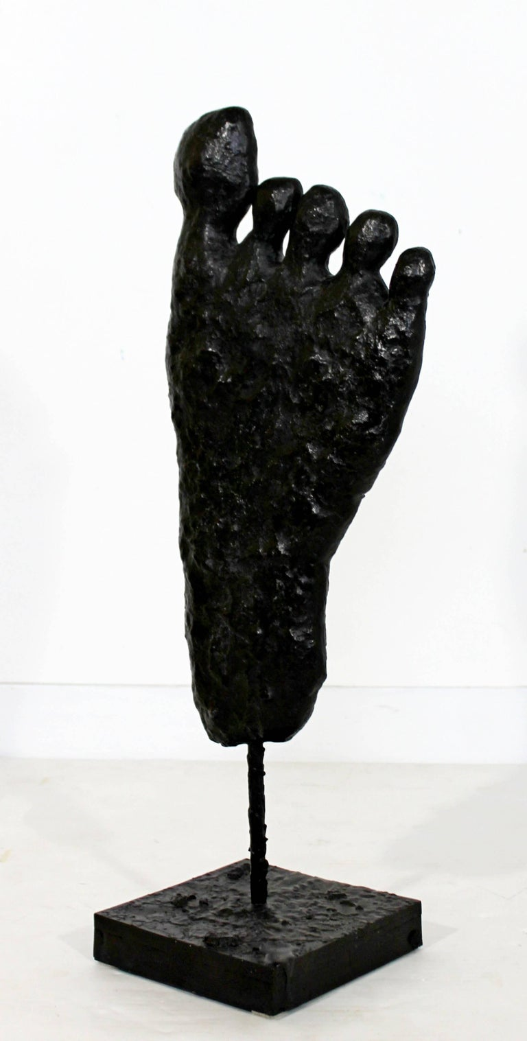 Contemporary Modern Large Bronze Foot Table Sculpture by Donald Baechler, 2003 For Sale 2