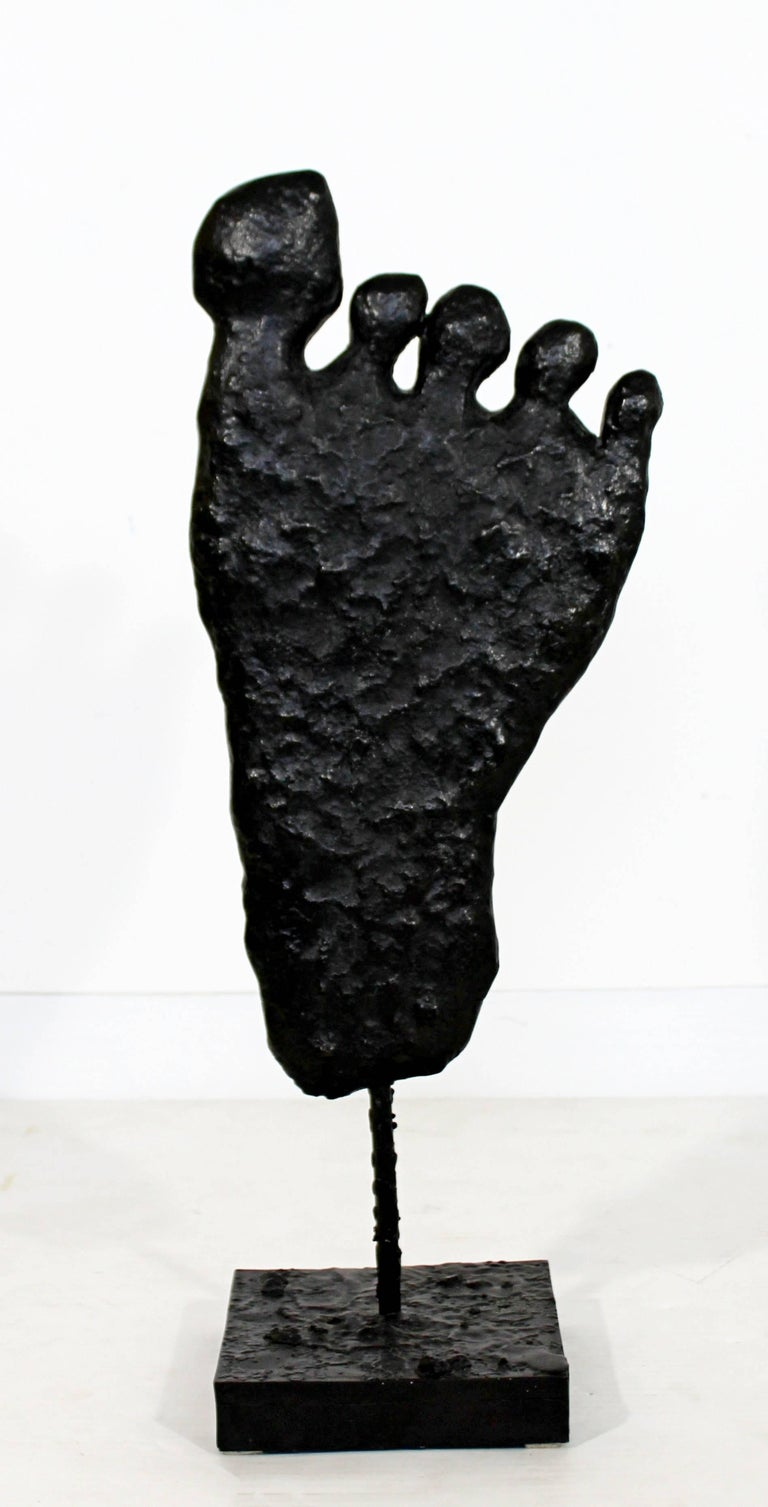 Contemporary Modern Large Bronze Foot Table Sculpture by Donald Baechler, 2003 For Sale 3