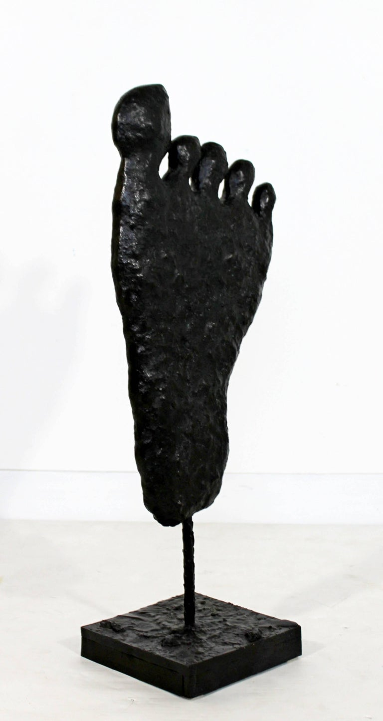 Contemporary Modern Large Bronze Foot Table Sculpture by Donald Baechler, 2003 For Sale 4