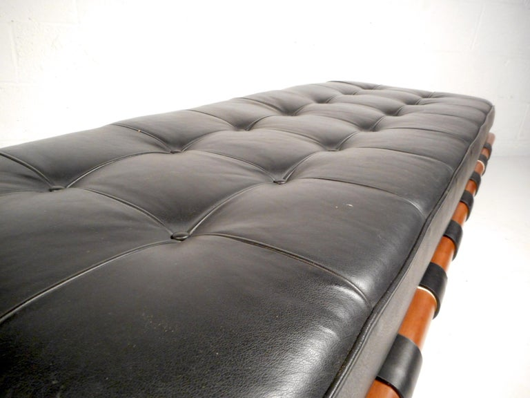 20th Century Contemporary Modern Leather Bench For Sale