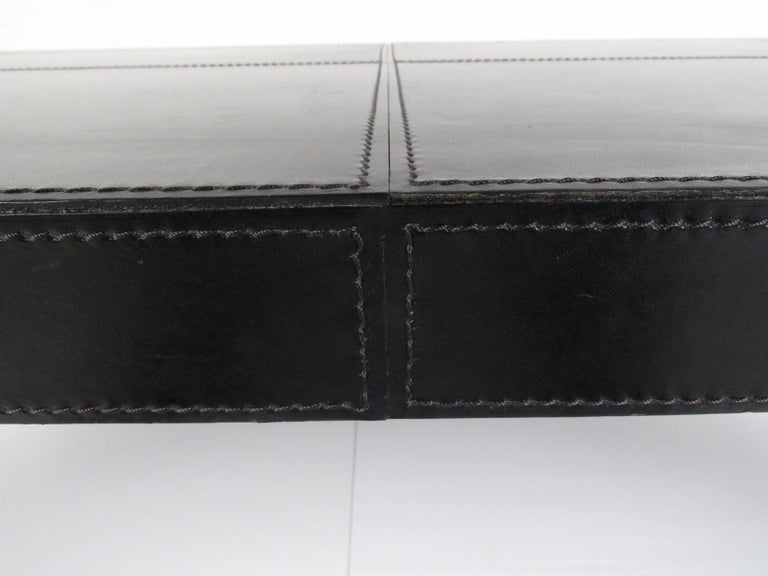 Modern Coffee Table with Leather Top For Sale 5