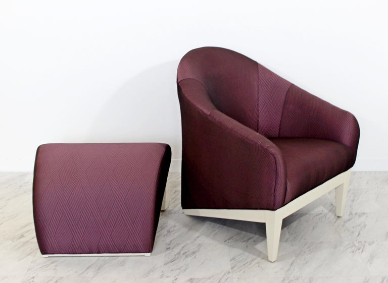 Contemporary Modern Lounge Chair & Ottoman  For Sale 5