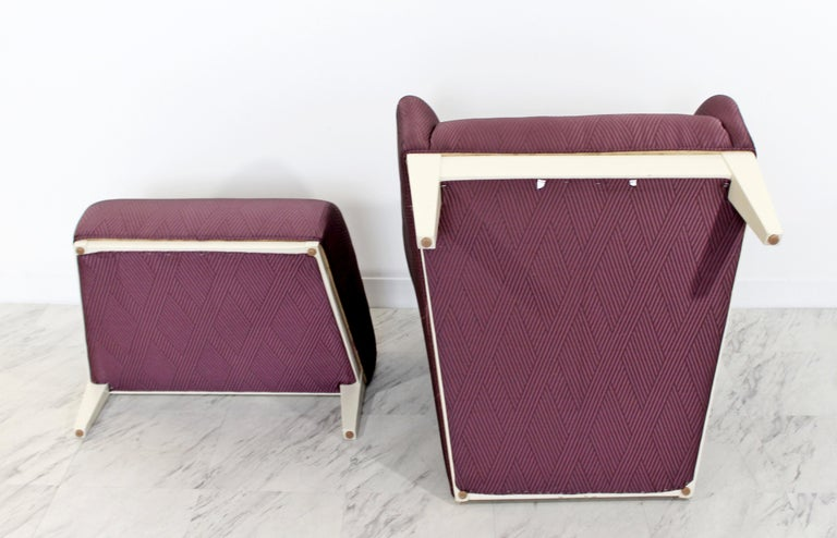 Contemporary Modern Lounge Chair & Ottoman  For Sale 7