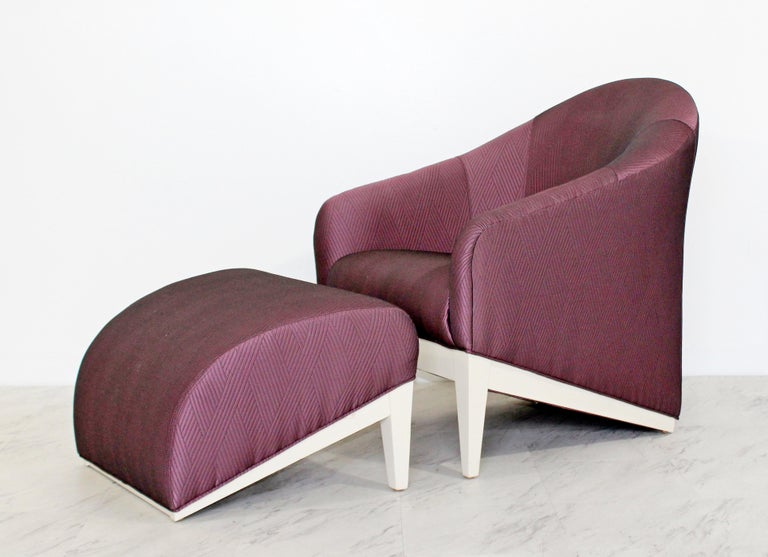 Contemporary Modern Lounge Chair & Ottoman  In Good Condition For Sale In Keego Harbor, MI