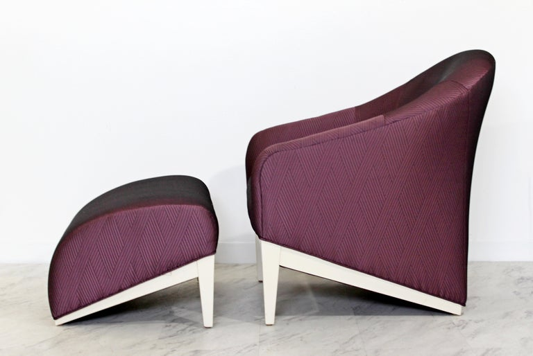 Upholstery Contemporary Modern Lounge Chair & Ottoman  For Sale
