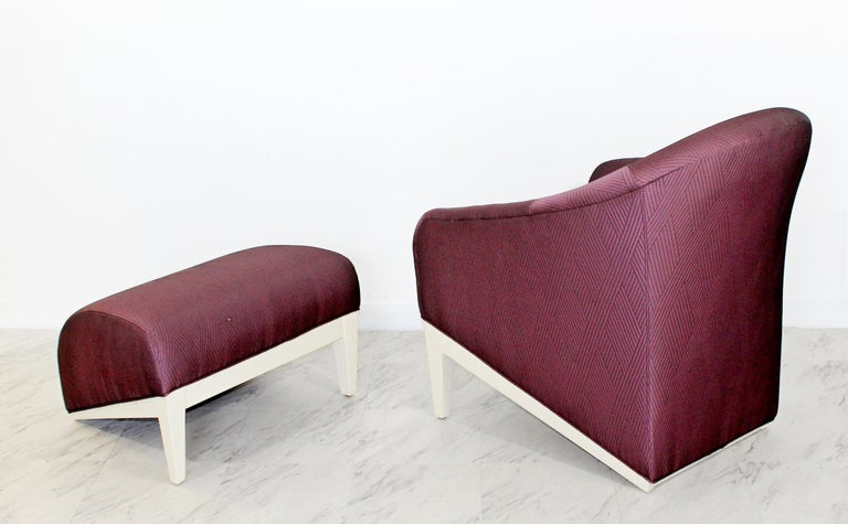 Contemporary Modern Lounge Chair & Ottoman  For Sale 1