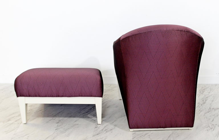 Contemporary Modern Lounge Chair & Ottoman  For Sale 3