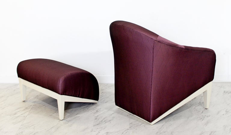 Contemporary Modern Lounge Chair & Ottoman  For Sale 4