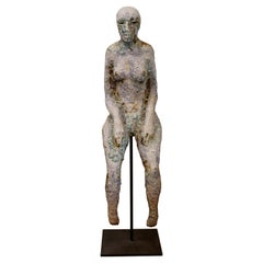 Contemporary Modern Mark Chatterley Large Ceramic Floor Sculpture Seated Figure