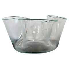 Contemporary Modern Massive Memphis Laurel Fyfe Slumped Art Glass Bowl, 1980s