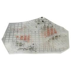 Contemporary Modern Memphis Abstract Art Glass Sculpture Signed Laurel Fyfe