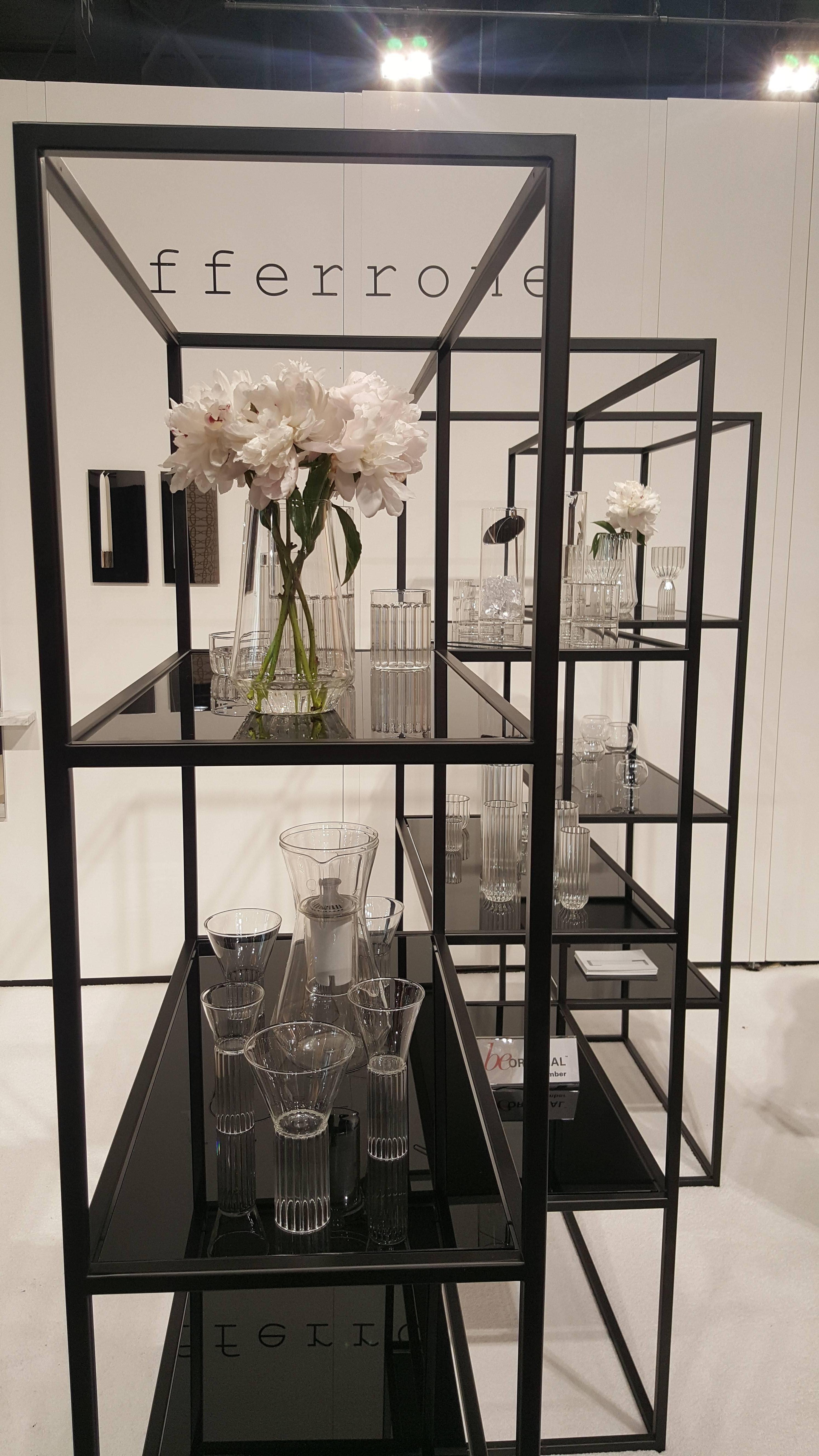 Contemporary Modern Minimal Black Zigzag Modular Bookcase Room Divider Usa