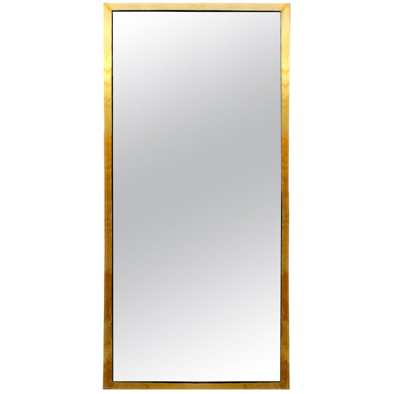"""Contemporary Modern Model """"Infinity"""" Large Made of Brass Italian Mirror For Sale"""