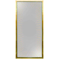 "Contemporary Modern Model ""Infinity"" Large Made of Brass Italian Mirror"