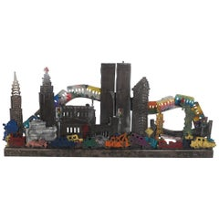 Contemporary Modern New York City Three Dimensional Metal Wall Art