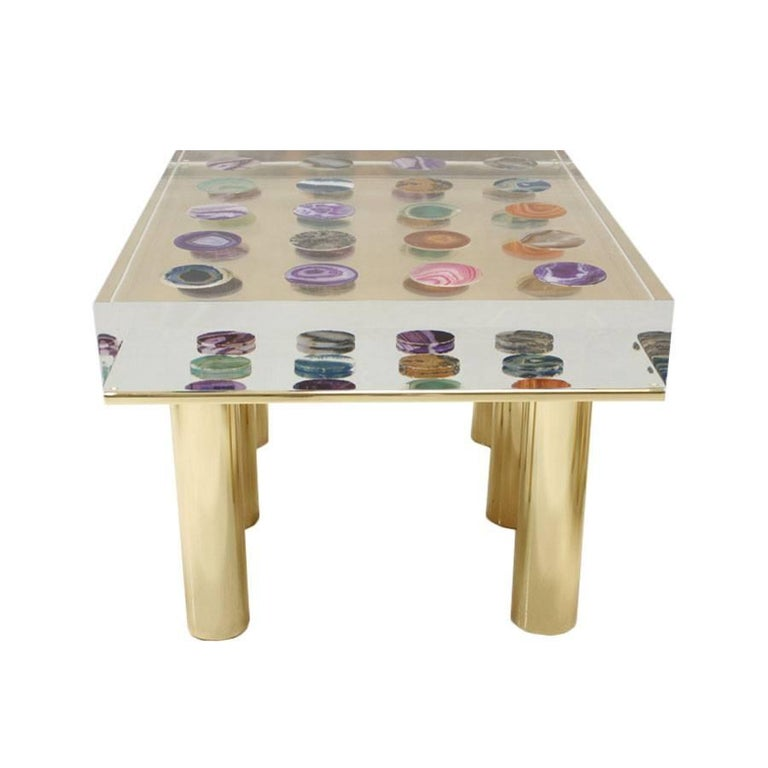 Plexiglass Contemporary Modern Pair of Italian Coffee Tables Designed by Superego Studio For Sale