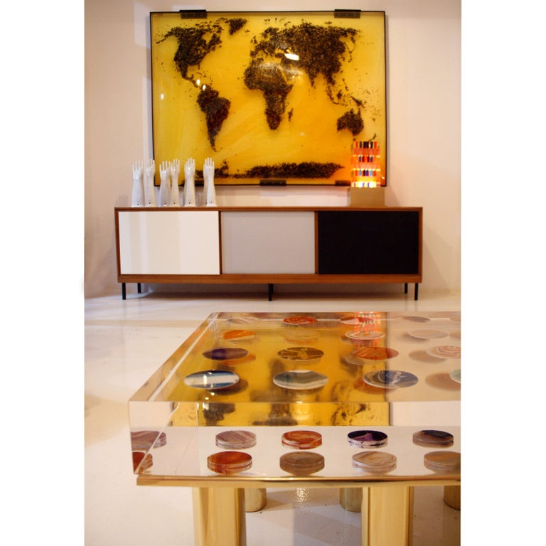 Contemporary Modern Pair of Italian Coffee Tables Designed by Superego Studio For Sale 3