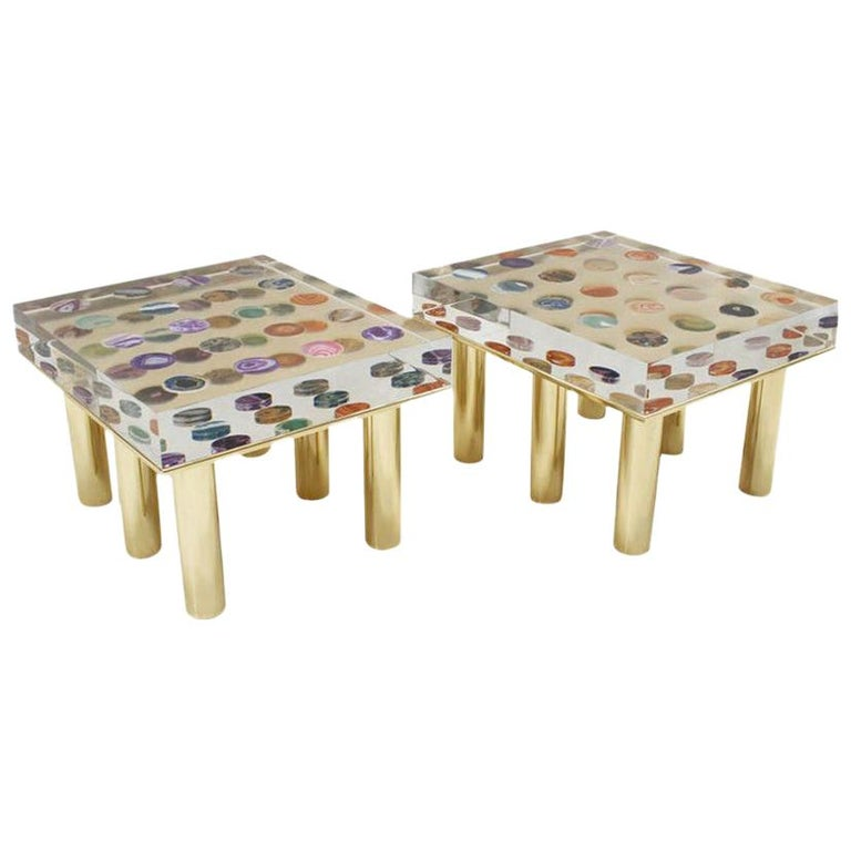 Contemporary Modern Pair of Italian Coffee Tables Designed by Superego Studio For Sale