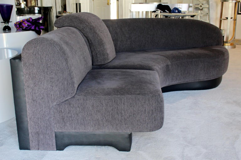 Contemporary Modern Pair of Vladimir Kagan Preview Curved Sectional Sofa,  1980s
