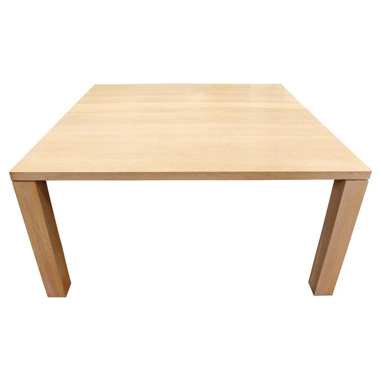 Contemporary Modern Parsons Large Oak Wood Dinette Dining Conference Table 90s For Sale