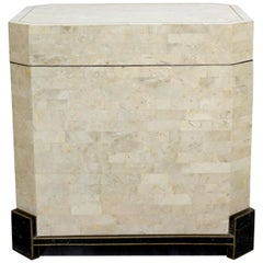 Contemporary Modern Robert Marcius Casa Bique Tessellated Fossil Stone Chest