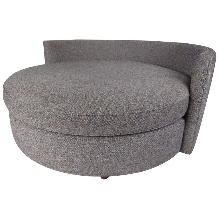 Contemporary Modern Round Sofa or Lounge Chair